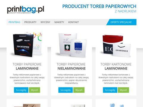 PrintBag - Producent toreb reklamowych i opakowa艅 ozdobnych