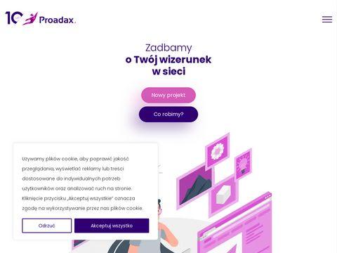 Proadax.pl - Agencja Interaktywna. Nowoczesne strony internetowe