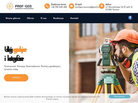 """PROF-GEO GEODEZJA TARNÃ""""W"""