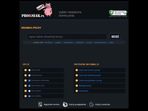 Proksiak.pl - szybka bramka IP