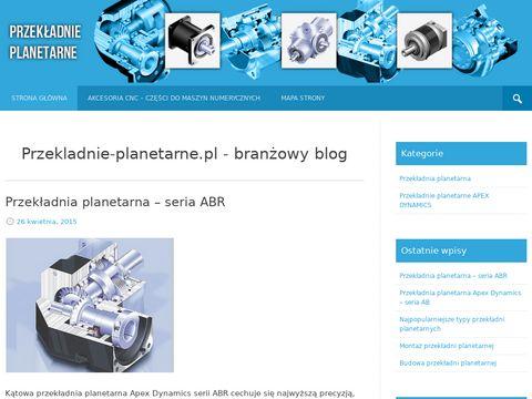 Przekladnie-Planetarne.com.pl - tematyczny serwis