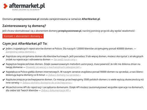 Blog z przepisami PrzepisySezonowe.pl