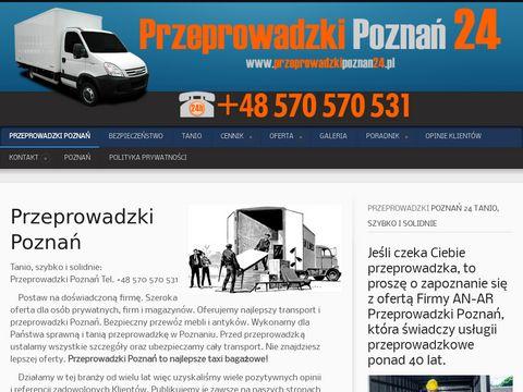 Tanie przeprowadzki w Poznaniu 24h.