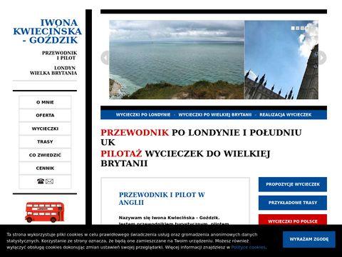 Londyn UK | Przewodnik i pilot wycieczek | Iwona Kwiecińska - Goździk