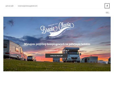 Przyczepy campingowe na Półwyspie Helskim
