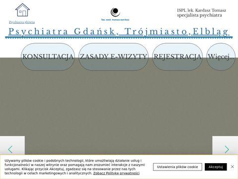 Lekarz Kardasz Tomasz   Psychiatra Elbląg   Psychiatra Gdańsk  