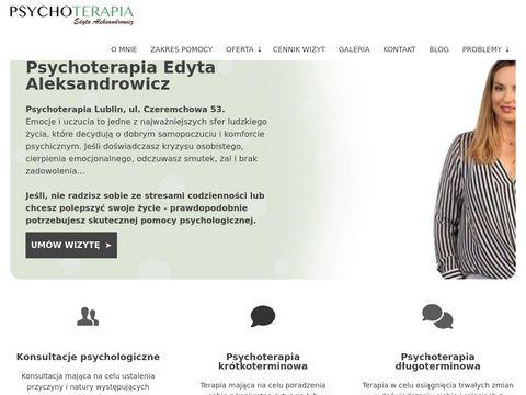 Psycholog Lublin - Edyta Aleksandrowicz