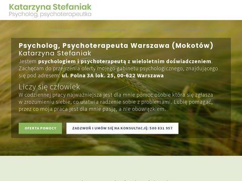 Psycholog Katarzyna Stefaniak