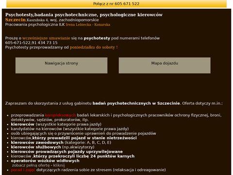 Psychotesty Szczecin