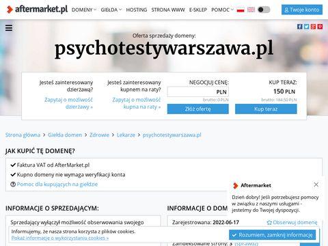 Psychotesty Warszawa