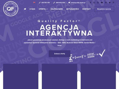 Działania SEO - Quality Factor