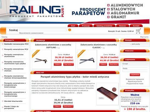 Producent parapetów stalowych, aluminiowych