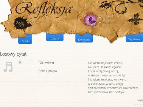 Cytaty, My艣li, Refleksje - Refleksja.info