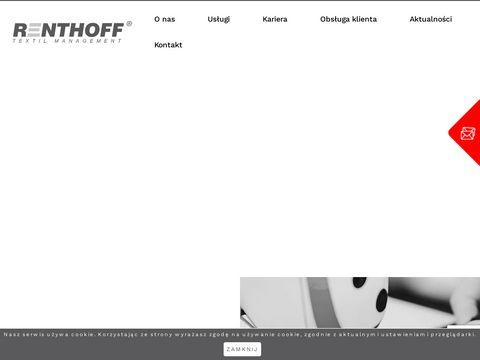 Wynajem, serwis i pranie odzieży roboczej - Renthoff