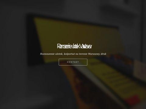 Roznoszenie ulotek Warszawa - kolportaż na terenie Warszawy, druk