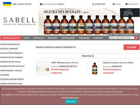Hurtownia kosmetyczna Sabell - kosmetyki profesjonalne dla salon贸w