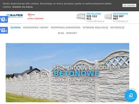 Sapes.pl ogrodzenia betonowe Gliwice