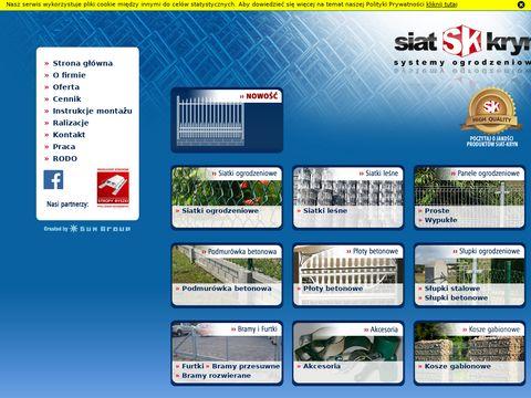SIAT - KRYN Ogrodzenia betonowe, siatka ogrodzeniowa