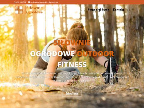 Si艂ownie ogrodowe Outdoor Fitness z drewna