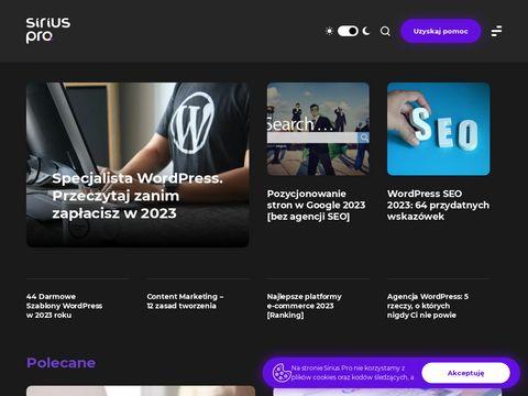 Tworzenie nowoczesnych sklepów internetowych - siriuspro.pl