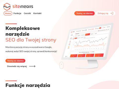 Pozycja w Google - sitemeans.com