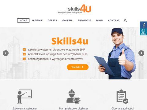 Www.skills4u.pl audyt bhp i ppo偶 艢l膮sk