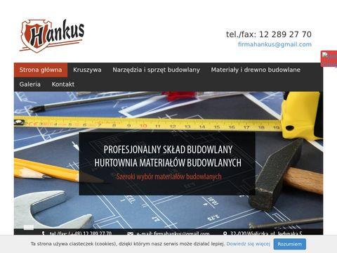 HANKUS sprzedaż materiałów budowlanych Kraków