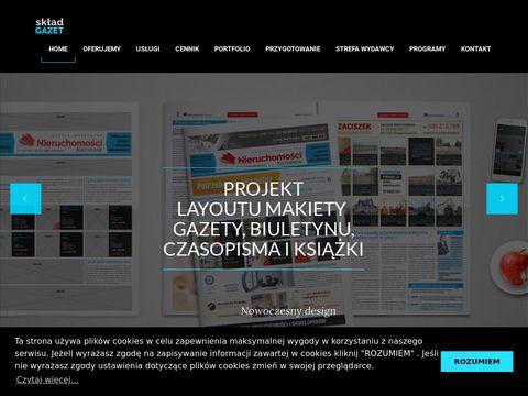 Projektowanie prasowe | Skład gazet i czasopism | Druk