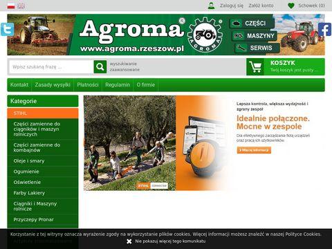 Sklep Agroma Rzeszów - Ciągniki - Maszyny Rolnicze - Części