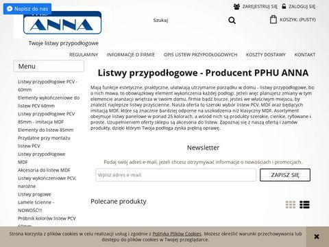 Listwy PCV Anna - sklep.firma-anna.pl