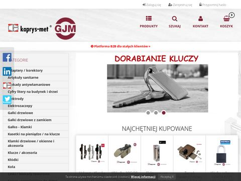 Kaprys Met Producent okuć budowlanych - sklep internetowy