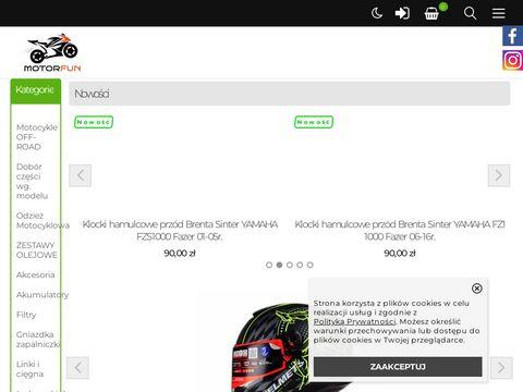 Motorfun- motocyklowy sklep internetowy