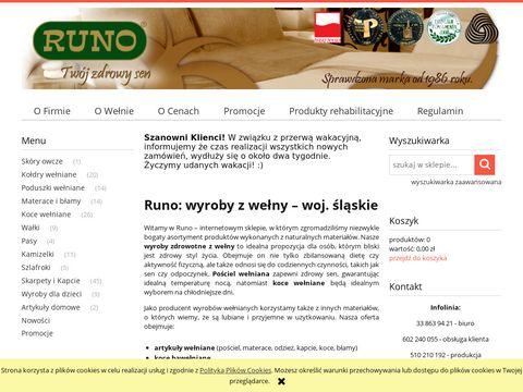Sklep firmowy RUNO - po艣ciel we艂niana, koce, konfekcja - 100% czysta we艂na