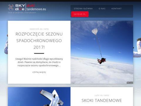 Skoki spadochronowe - skokitandemowe.eu