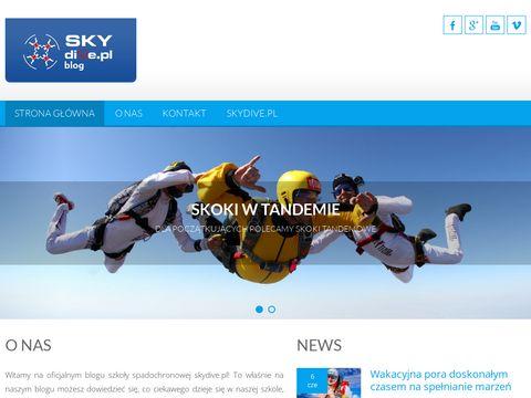 Skoki tandemowe skydive.pl - blog