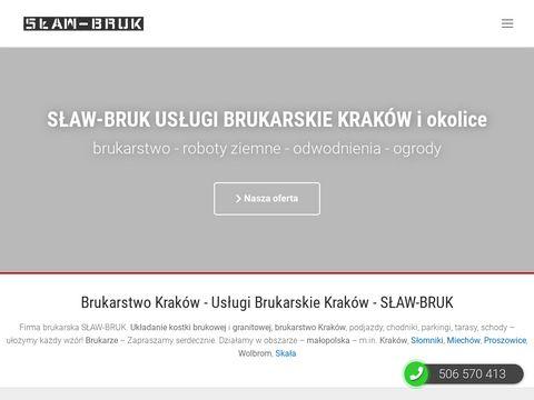 Brukarstwo Kraków - S�AW-BRUK - układanie kostki brukowej, brukarze