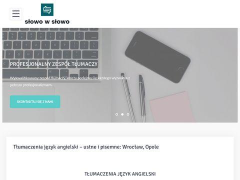 S艂owo w S艂owo - profesjonalne t艂umaczenia - Wroc艂aw, Opole