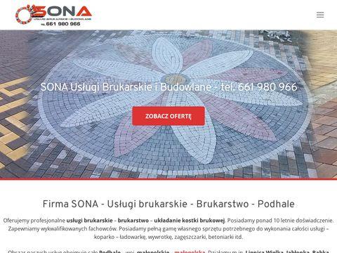 SONA - Usługi brukarskie - brukarstwo - Podhale, Nowy Targ, Zakopane