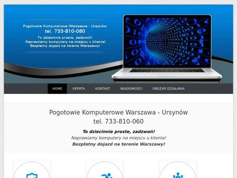 Pogotowie komputerowe S.O.S PC Tel. 733810060 Serwis Komputerowy WARSZAWA