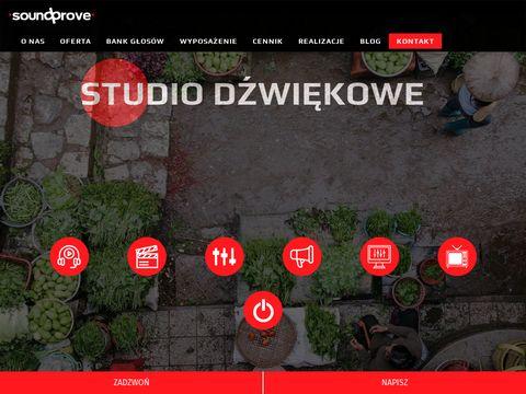 Studio nagrań SoundProve, profesjonalna produkcja muzyczna