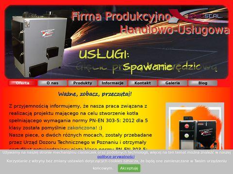 SpecStal - producent kotłów na paliwo stałe z blach gr. 8 mm.