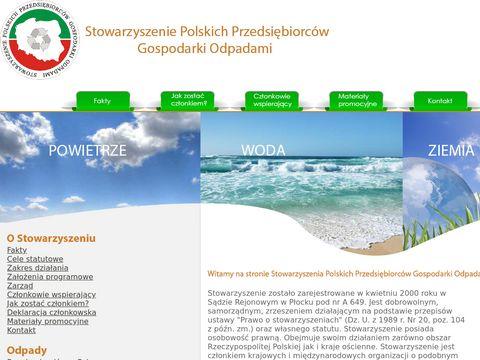 SPPGO - Stowarzyszenie Polskich Przedsiębiorców Gospodarki Odpadami