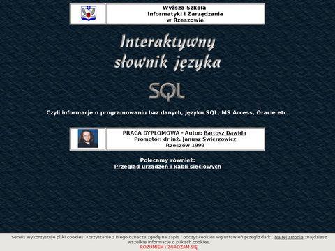 Interaktywny słownik języka SQL