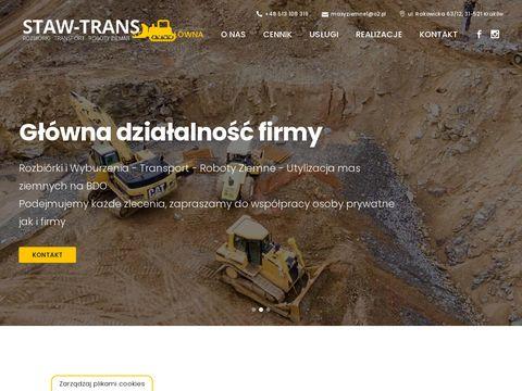 Roboty ziemne - rozbiórki - wyburzenia - Kraków Staw-Trans