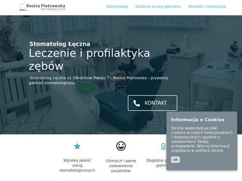 Stomatolog Rosica Piotrowska - Gabinet w �ęcznej