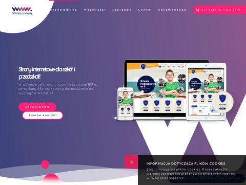 Stronyzklasa.pl - Strona internetowa szko艂y