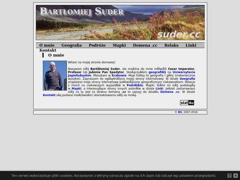 Bart艂omiej Suder - strona domowa Barteka Sudera