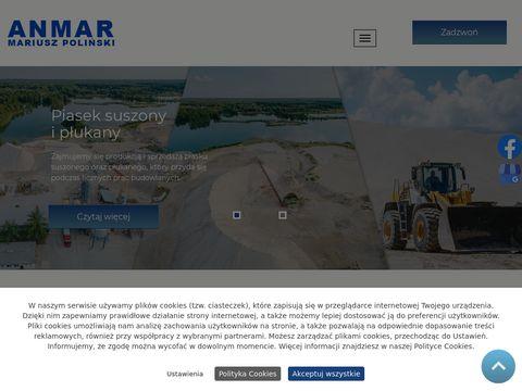 ANMAR piasek workowany kujawsko-pomorskie