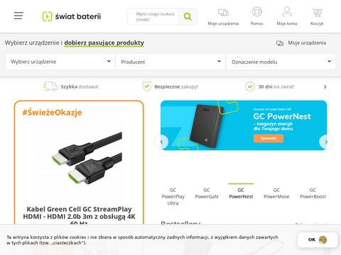 Świat Baterii - Świeża Energia - Baterie i ładowarki do laptopów
