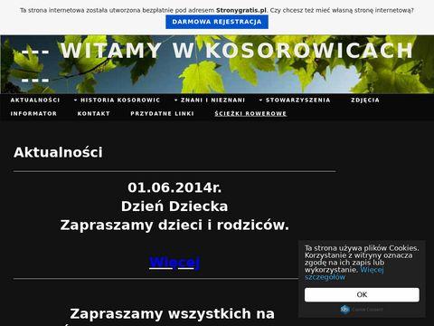 Witamy na stronie wsi Kosorowice